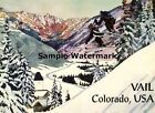 VAIL Colorado Top Nation Ski Resort Travel Sport Vintage Poster Repo FREE S/H