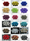 New Release 40pcs Resin Rhinestones Round Ball Spacer Beads Pick Colors and size