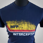 Mad Max MFP Interceptor Retro Movie T Shirt V8 Car Pursuit Navy Blue