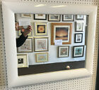 NEW LARGE 63mm SHINY WHITE FRAMED WALL AND OVERMANTLE MIRRORS