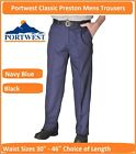 "Portwest Preston Mens Work Trousers Workwear Pants Black or Navy 30""-46"" Waists"