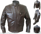 Mens Brown Retro Biker Style Fashion Italian Leather Jacket