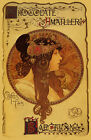Mucha Chocolate Candy Amatller 1899 Barcelona Vintage Poster Repro FREE SHIPPING