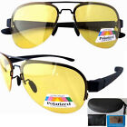 yellow polarized lenses sunglasses with case night vision driving glasses