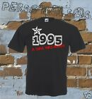 T-SHIRT DATA DI NASCITA 1995 A STAR WAS BORN idea regalo humor divertente