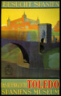 Toledo Spain Museum City Travel Spanish Tourism Vintage Poster Repro FREE S/H
