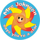 Personalised Reward stickers for Teachers Mothers Childminders Nurseries
