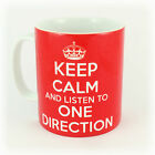 KEEP CALM AND LISTEN TO ONE DIRECTION GIFT MUG CARRY ON COOL BRITANNIA RETRO 1D