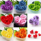 3 x Bath Body Soap Rose Petal Flower Gift Party Wedding Decorative Favor Hear
