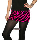 ZEBRA STRETCH HOT PANTS PINK ROCK SHORTS GLAM DISCO PUNK TIGHT MARY QUANT
