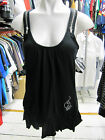 BABY PHAT LADIES BLACK VEST T-SHIRT DRESS ZIP STRAPS COTTON SEXY HIPHOP TOP XS M