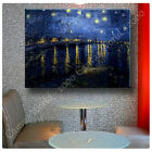 Huge! Van Gogh Starry Night Over the Rhone ALL SIZES CANVAS Print Poster GICLEE