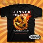"NEW KERUSSO "" HUNGER FOR GOD "" ADULT CHRISTIAN T-SHIRT"