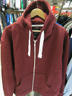 URBAN DIVA UNISEX WINE RED PLAIN HOODED ZIP UP HIPHOP JACKET HOODIES 16 18 20