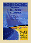 Boulogne Sur Mer Beach Seashore Casino French Vintage Poster Repro FREE S/H