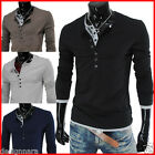 THELEES Mens casual long sleeved T-shirts collection1 with free shipping