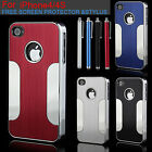 New Quality Stylish Aluminium Bumper Series Case Cover For Apple iPhone 4 4G 4S
