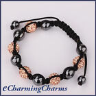 1 x Crystal Disco Ball Shamballa Bracelet - Different Colours Available