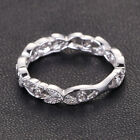 Antique Style Full Eternity .23ct Diamond Solid 14K White Gold Wedding Band Ring