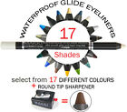 MAKKI WATERPROOF GLIDE EYELINER PENCIL +ROUND-TIP SHARPENER LONG STAY ULTRA SOFT