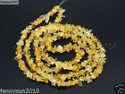 Natural Citrine Gemstones Chip Nugget 5~8mm Beads 35'' Bracelet Necklace Design