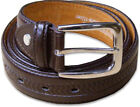 """New Mens Pattern Leather Brown Belt Sizes 32""""-60"""" 'Ossi' 30mm"""