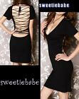 New V22 Cocktail Party Clubwear V-Neck Backless Short sleeve Dresses S/M