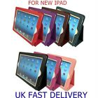 HIGH QUALITY LEATHER STAND CASE COVER FOR APPLE NEW IPAD /IPAD 3 / IPAD2+