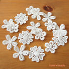 8 pcs: Cute Small Flower Lace Applique White 3-style Delicate Sewing Craft