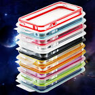 Clear Bumper Frame TPU Silicone Case for iPhone 4 4S 4G W/Side Button 10 Colors