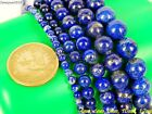 Natural Lapis Lazuli Gemstone Round Beads 15.5'' 2mm 3mm 4mm 6mm 8mm 10mm 12mm