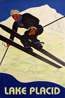 Lake Placid Ski Winter Sport Jumping Mountain Alps Vintage Poster Repro FREE S/H