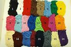 Lot of 8 Soft Rayon Snood Hair Net Crocheted Hair Net Black Red Blue White