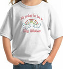 GOING TO BE BIG SISTER Rainbow Custom Kids T-Shirt white grey pink