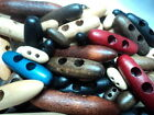 10 x SPECIAL WOODEN BEECH ! BABY TOGGLE ! BUTTONS 19mm-W3