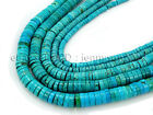 Stabilized Turquoise Gemstone Heishi Beads 16'' 2mm 3mm 4mm 6mm 8mm 10mm 12mm
