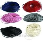 Genuine Leather round Cord Thread For Diy Bracelet Necklace Jewelry Making 100M