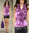 Hot Ladies Cocktail Evening Party&Casual Bridesmaid Ruffle Halter Top Shirt 1877