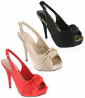 VT Vintage Collection Sling Back Stiletto Luxury Party Dress Womens Sandals 3-8