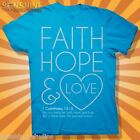 NEW KERUSSO ~ FAITH HOPE LOVE ~ LADIES   CHRISTIAN T-SHIRT ADULT SIZES ~