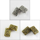 20Pcs Tibetan Silver,Gold,Bronze 3-3 Hole Spacer Bead Connector 12x17.5mm P018