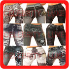 New Ladies Leggings Ripped Skinny Leg Jeggings Tattoo Pattern