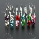 6 10 20pcs 7 Colors Clear Crystal Wedding Engagement Bridal Hair Pins Clips