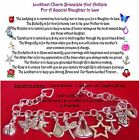 Daughter In Law Charmed Anklet Special Poem + organza Bag with 2x4 card gift set