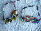 Glass Bead Beads Bracelet Hippy BoHo Adjustable String