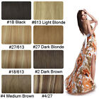 Free Shipping~8pcs Clip In Human Hair Extentions 8colors & 2 Length 90g & 100g