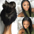 "22"" Affordable Full/Front Lace Wig_100% Human Hair_Silky Straight 2# Brown"