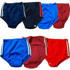 School PE Gym Knickers plain and striped Stretch RETRO Red Green Royal NEW
