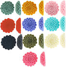 Resin Flat Back Flower Cabochon 24mm, 10 Pieces