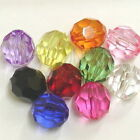 10 16mm Acrylic faceted round bead c584 U PICK